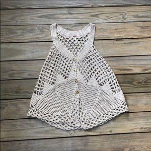Free People Oversized Crocheted Vest Size S